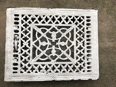 Antique Late 1800's Cast Iron  Heating Grate Unique Ornate Design 14x10 HT