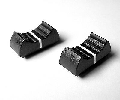 Slider Pot Knobs - Black with White Line - 2 of - Linear Fader Caps