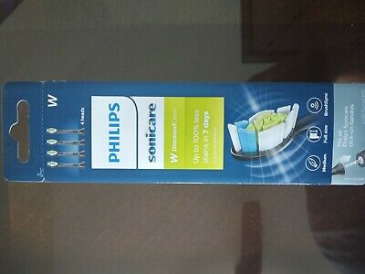Genuine Philips Sonicare DiamondClean replacement toothbrush heads,Black,4 Count