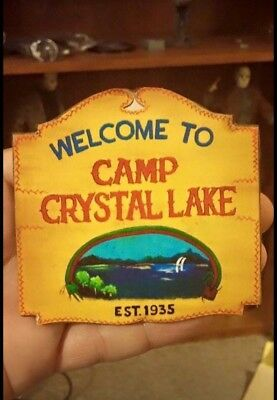 Custom 1/6 Scale Camp Crystal Lake Sign Friday The 13th Jason Voorhees