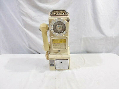 Rarish 1967 #233 Original Paint Ivory Color 3-Slot Northern Electric Payphone