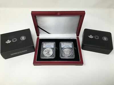 2019 Pride of Two Nation PCGS PR70 Royal Canadian RCM TWO COINS FIRST STRIKE