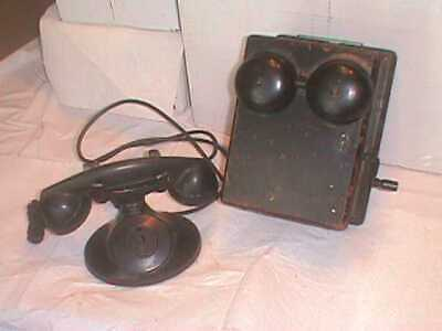 Antique Vintage Bell Western Electric Crank Telephone 315H Box F1 Receiver