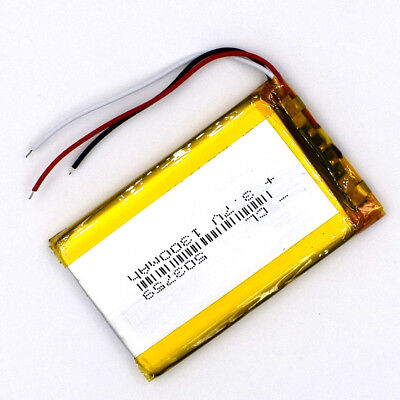 5pcs 3.7V 503759 1300mAh 3wire Rechargeable Battery LiPolymer Li Po Cell for GPS