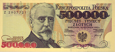 POLAND: 5 00 000 ZLOTYCH  UNC and SCARCE  1993    NO  RESERVE
