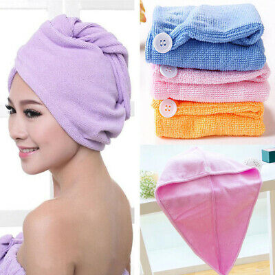 Microfibre After Shower Hair Turban Drying Wrap Towel Quick Dry Hair Hat Cap New