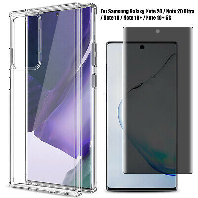 For Samsung Galaxy Note 10+ Plus Case With Anti-Spy Privacy 3D Screen Protector