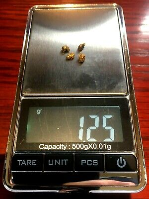 Beautiful 4x gold nuggets from famous Victorian Golden Triangle Total 1.25 grams