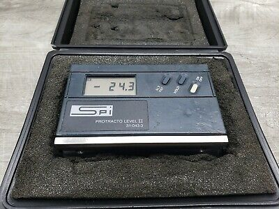 SPI Protracto Level II 31-043-3 Digital Electronic w/ Case - New Battery
