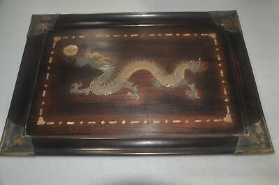 Chinese Wooden Tray - Dragon