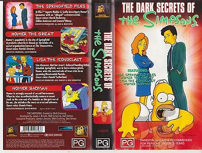 The Simpsons - Dark Secrets Of - Late 90's Cult - 4 Full Length Episodes on VHS!