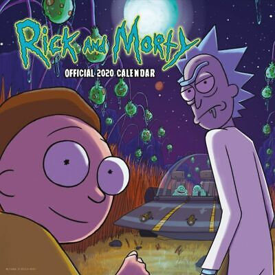 Rick and Morty Official 2020 Square Wall Calendar by Danilo, free Post