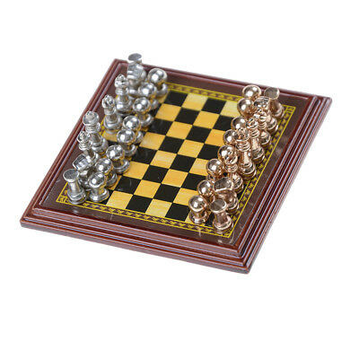 1:12 Toy Dollhouse Miniature A Set Of Metal Chess Set Girls Doll Gift Hot Sale