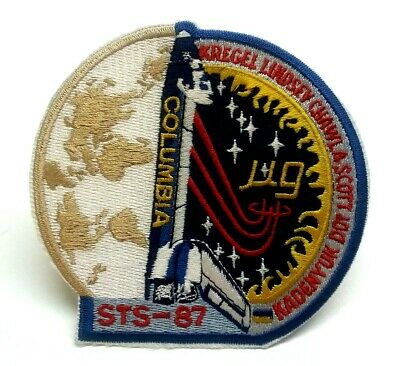 "NASA ""Columbia STS-87"" Space Shuttle Embroidered 4"" Iron-On Patch! FREE S/H!"