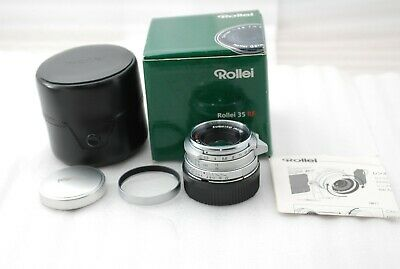 """RARE NEAR Mint in BOX""Rollei Sonnar 40mm F/2.8 HFT with Hood for Leica M #3041"