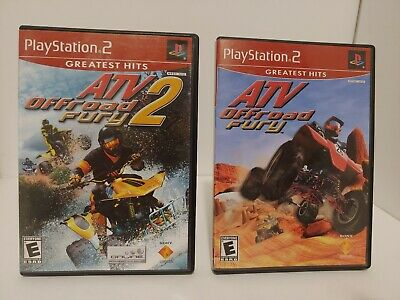 Lot of 2 playstation 2 games. Atv Off Road Fury #1 And #2 Games Playstation 2