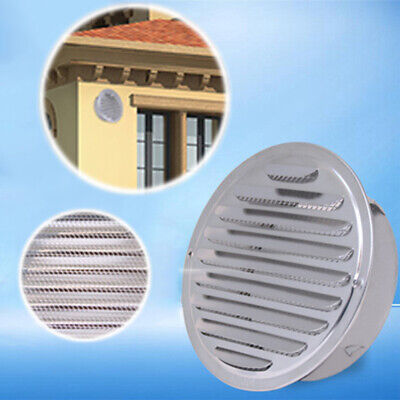 80/100/120/160mm Air Vent Stainless Steel Ventilation Wall Mount High quality