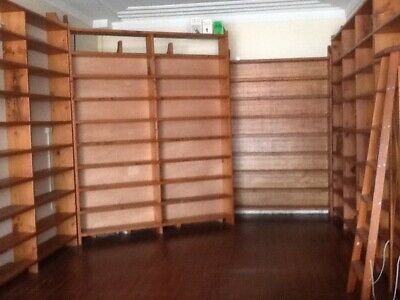 Large Solid Oregon bookcases from antique/secondhand bookshop