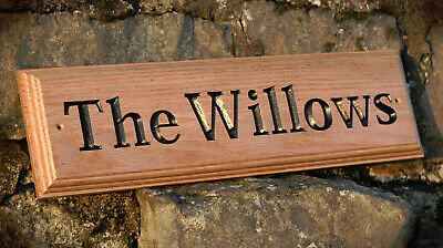 Home Decor Personalised House Door Sign Tree of Life Willow Oak Wooden Name Plate Plaque