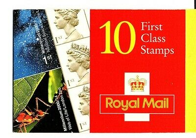 GB 2000 10 First Class Stamps Barcode BOOKLET HBA3 Millennium