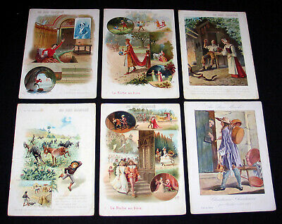 "Lot 6 Grand Chromo ""Au Bon Marché"" Lithographie Reclame Publicite Magasin 1900"