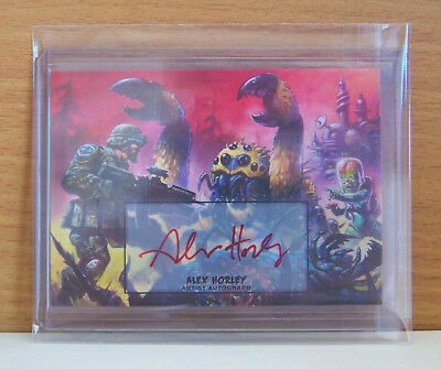 Topps Mars Attacks Invasion Alex Horley autograph card 46 Struggle for Supremacy