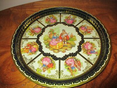 Vintage ELITE TRAYS LONDON -Metal -Young Lovers Tray Made in England