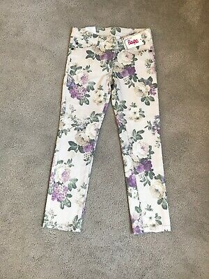Girls Next Floral Print Skinny Jeans Age 7 Years New With Tags