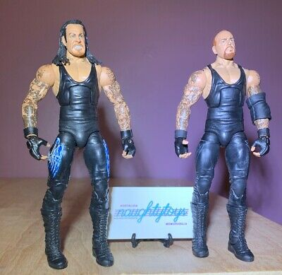 WWE Mattel Elite Undertaker Wrestling Figure Lot / Long Hair & Mohawk / WWF NXT