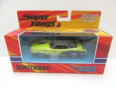 Matchbox Superkings K-209 1971 Plymouth Barracuda - Lime/Black - Mint/Boxed