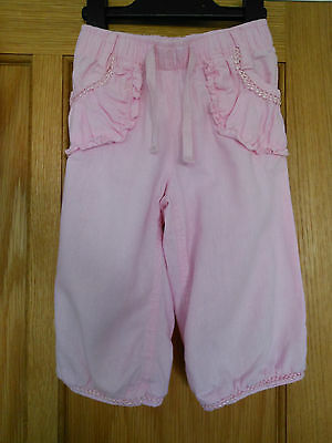NEXT - Girls Pink  Cropped Trousers - Size 3-4 Years.