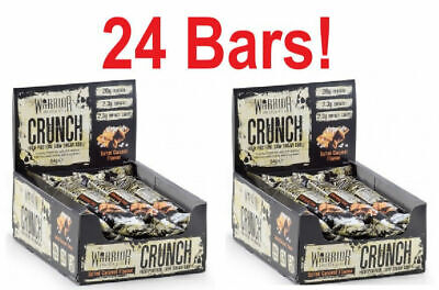 Warrior Crunch - 2 Boxes (24 Bars) - Low Carb Best Protein Bar Smart Nutrition