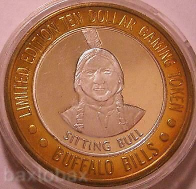 BUFFALO BILL'S  Silver Strike INDIAN CHIEF SITTING BULL 1994 'GDC' mint mark