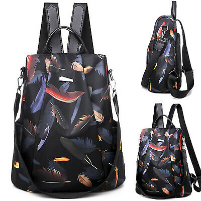 Waterproof Women Floral Rucksack Anti-Theft Adjustable School Bag Mens Backpack