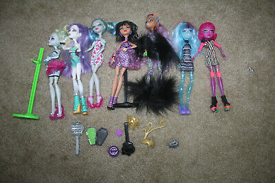 MONSTER HIGH  DOLL LOT laguna cleo claudine ghoulia spectra