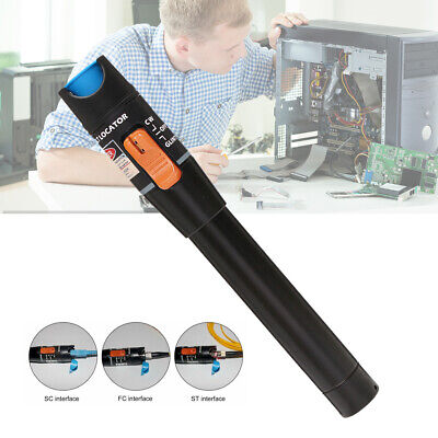 Black 10 Mw Visual Fault Locator Optical Fiber 10KM 650nm Cable Test Tester new