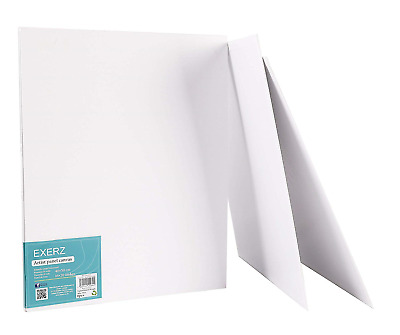 Exerz Artist Canvas Panels 6 Pack / 50 x 40cm 280GSM/ Pre-Stretched 100% Canvas