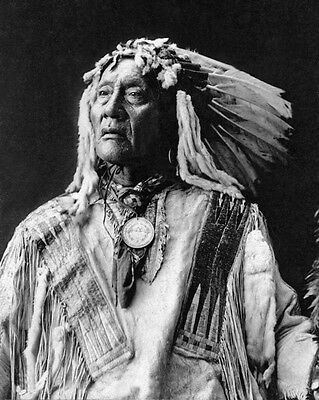 Native American Indian CHIEF HIGH BEAR 8x10 Photo Oglala Sioux Print Poster