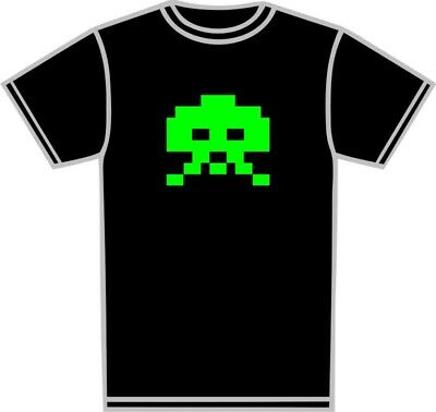 Space Invaders Retro Atari Novelty T-Shirt Personalised Printed gift