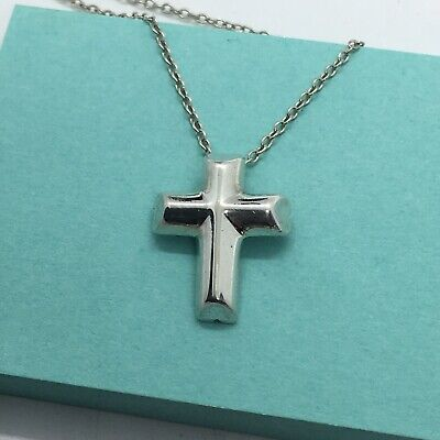 STERLING SILVER TIFFANY and Co. PALOMA PICASSO Tenderness Cross Necklace