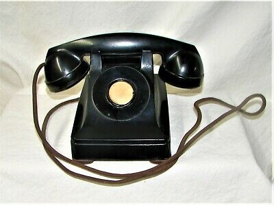 Vintage Telephone Western Electric Corded Black Phone no Rotary Dial