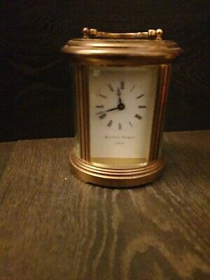 A Matthew Norman Brass Carriage Clock With Key