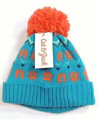 Cat & Jack Boys Toddlers Monster Winter Hat W/Mittens Set 12-24 M, 2T-5T (5112)