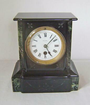 Victorian Black Marble & Brass Slate Clock : Walden, Jersey on Dial: Timepiece