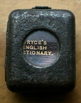 English Dictionary Miniature Book with Tin Magnifier Cover. David Bryce. c.1900