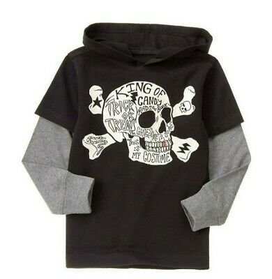 Boys Gymboree Hooded King Of Candy Skull Size 7 Halloween Long Sleeve