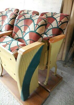 Art Deco HEYWOOD WAKEFIELD Opera House Theater Chair Seats