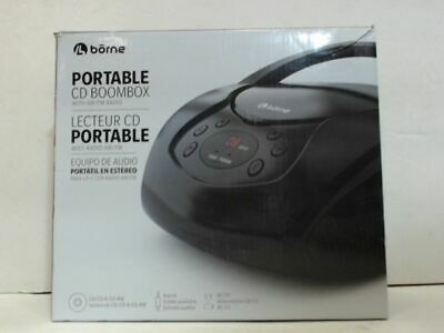 NEW OPEN BOX Borne PRCD630A Portable CD Boombox with AM/FM Radio
