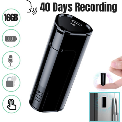 2019 Hidden Audio Recording Device Recorder 16GB Voice Activated Digital R3B1X
