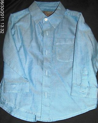 BOYS BUTTON DOWN BLUE LONG SLEEVED Dressy SHIRT 2T by Old Navy